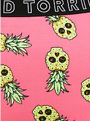 Torrid Logo Neon Pink Pineapple Skulls Cotton Cheeky Panty, TROPICAL SKULL, alternate