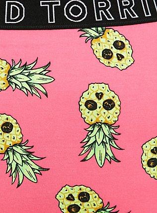 Plus Size Torrid Logo Coral Pineapple Skulls Cotton Cheeky Panty, TROPICAL SKULL, alternate