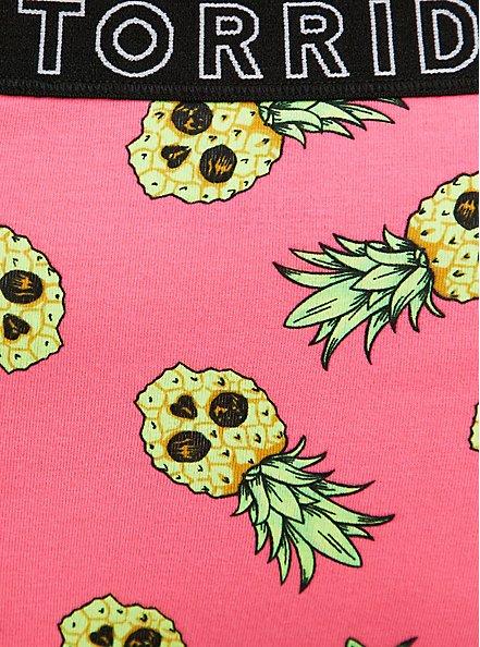 Torrid Logo Neon Pink Pineapple Skulls Cotton Hipster Panty, TROPICAL SKULL, alternate