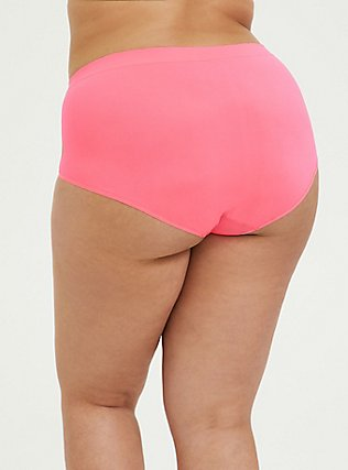 Slow Jams Sloth Neon Pink Seamless Brief Panty, SLOW JAMS- PINK, alternate