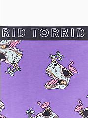 Plus Size Torrid Logo Purple Dinosaur Cotton Cheeky Panty, DINO PARTY, alternate