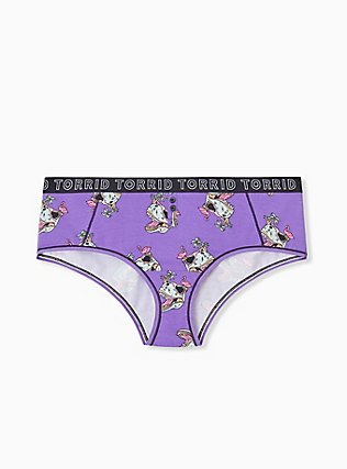 Torrid Logo Purple Dinosaur Cotton Cheeky Panty, DINO PARTY, hi-res