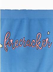 Firecracker Blue Seamless Boyshort Panty, FIRECRACKER, alternate