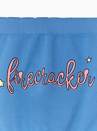Firecracker Blue Seamless Boyshort Panty, FIRECRACKER, alternate
