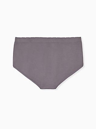 Plus Size Grey American Cat Seamless Brief Panty , AMERICANA KITTY- BLACK, alternate