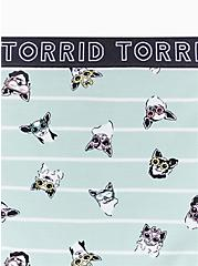 Torrid Logo Mint Blue Pups & Stripe Cotton Brief Panty, PUPS IN THE SUN, alternate