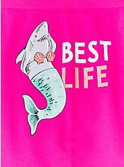 Plus Size Best Life Sharkmaid Hot Pink Seamless Boyshot Panty , SHARK MAID- PINK, alternate
