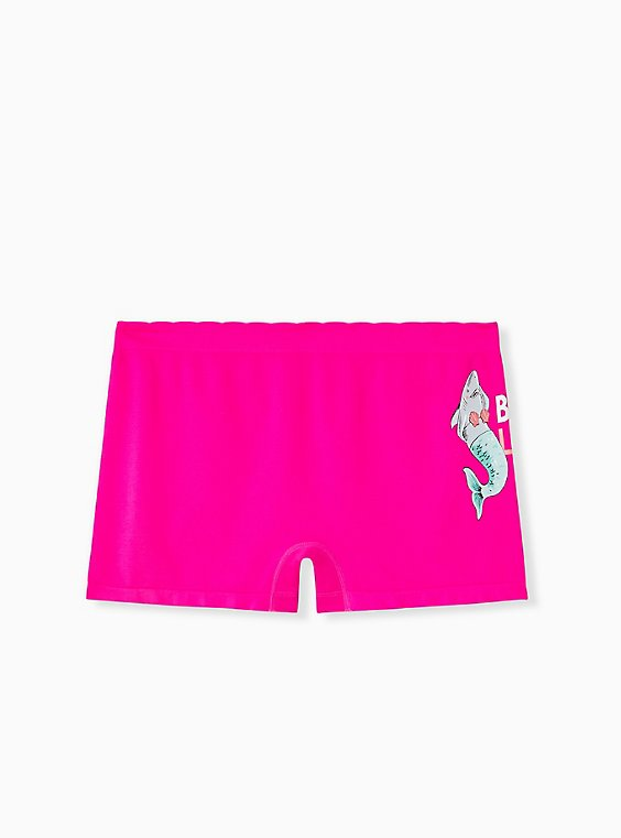 Best Life Sharkmaid Hot Pink Seamless Boyshot Panty , , hi-res