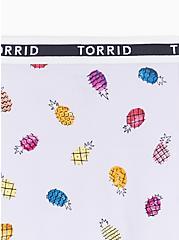 Torrid Logo Lilac Purple Pineapple Cotton Boyshort Panty, CUTE PINEAPPLES- LAVENDER, alternate