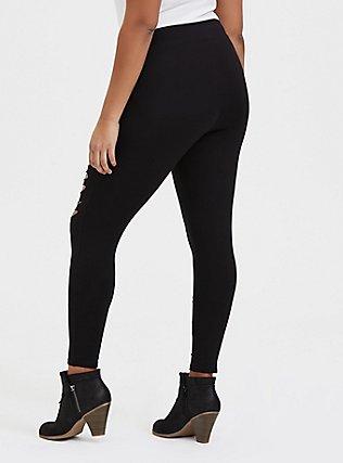 Premium Legging - Slashed Black, BLACK, alternate