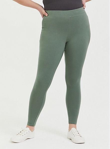 Plus Size Premium Legging - Light Olive Green, AGAVE GREEN, alternate