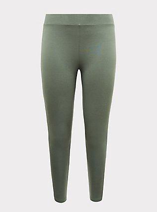 Premium Legging - Light Olive Green, AGAVE GREEN, flat