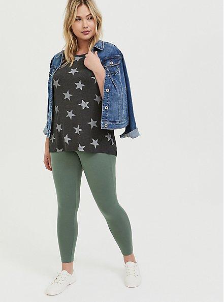 Plus Size Premium Legging - Light Olive Green, AGAVE GREEN, hi-res