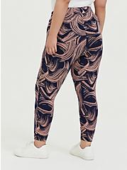 Crop Premium Legging - Brushstroke Pink & Navy, BRUSHSTROKE - MULTI, alternate