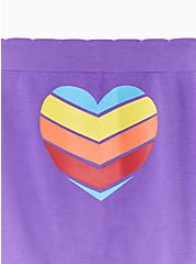 Purple & Rainbow Pride Heart Seamless Boyshort Panty, CHEVRON HEART- PURPLE, alternate