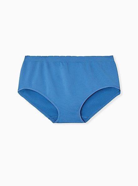 Firecracker Blue Seamless Brief Panty , FIRECRACKER, alternate