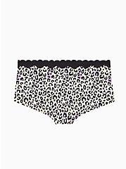 Multi Leopard Cotton Boyshort Panty, AIRBRUSH LEOPARD, alternate