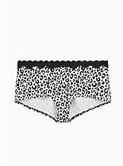 Multi Leopard Cotton Boyshort Panty, AIRBRUSH LEOPARD, hi-res