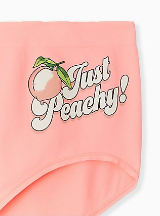 Plus Size Just Peachy Peach Pink Seamless Brief Panty, JUST PEACHY, alternate