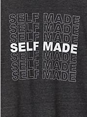 Self Made Charcoal Grey Triblend Jersey Crew Tee, CHARCOAL HEATHER, alternate