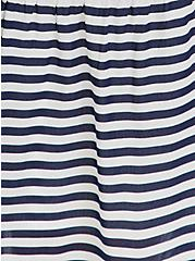 Navy & White Stripe Challis Self Tie Tiered Midi Dress, STRIPE - BLUE, alternate