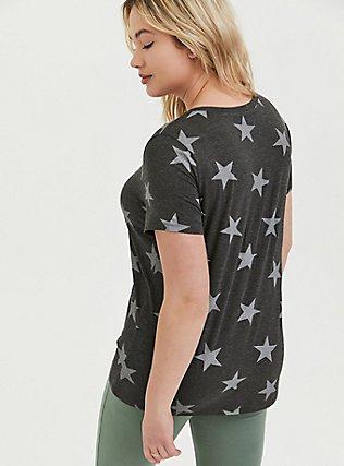 Slim Fit Crew Tee - Super Soft Stars Charcoal Grey, STARS-BLACK, alternate