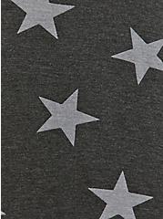 Plus Size Slim Fit Crew Tee - Super Soft Stars Charcoal Grey, STARS-BLACK, alternate