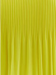 Lime Green Chiffon Pleated Tank, SPRINGTIME GREEN, alternate