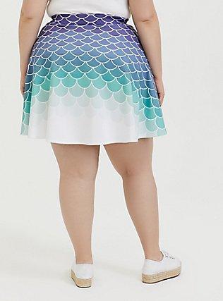 Plus Size Her Universe Disney The Little Mermaid Ariel Scale Scuba Knit Mini Skirt , MULTI, alternate
