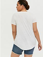 Classic Fit Crew Tee - Heritage Slub Tulip White, CLOUD DANCER, alternate