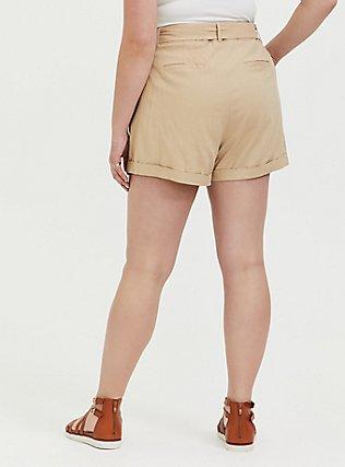 Self Tie Short Short - Linen Tan, TAN/BEIGE, alternate