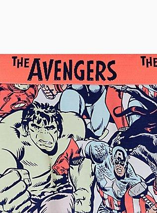 Marvel The Avengers Navy & Coral Cotton Boyshort Panty, MULTI, alternate