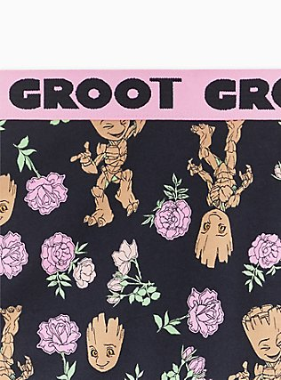 Guardians Of The Galaxy Groot Floral Black & Pink Cotton Hipster Panty , MULTI, alternate