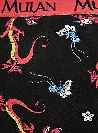 Disney Pixar Mulan Mushi & Cri-Kee Black Cotton Hipster Panty, MULTI, alternate
