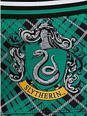 Plus Size Harry Potter Slytherin Green Plaid & Black Cotton Boyshort Panty, MULTI, alternate