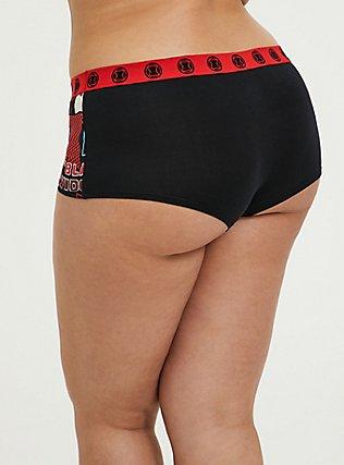 The Black Widow Black Comic Cotton Boyshort Panty, MULTI, alternate