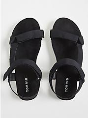 Black Gladiator Flatform Sandals (WW), BLACK, alternate