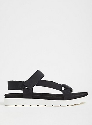 Black Gladiator Flatform Sandals (WW), BLACK, alternate