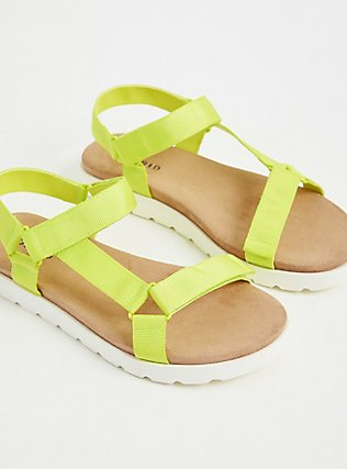 Neon Yellow Gladiator Flatform Sandal (WW), YELLOW, alternate