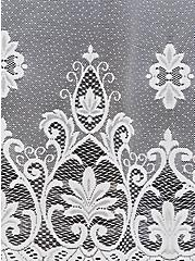 White Mesh Emboidered Ruana, , alternate