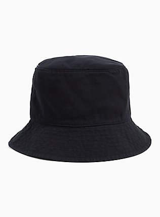 Black Canvas Bucket Hat, , alternate