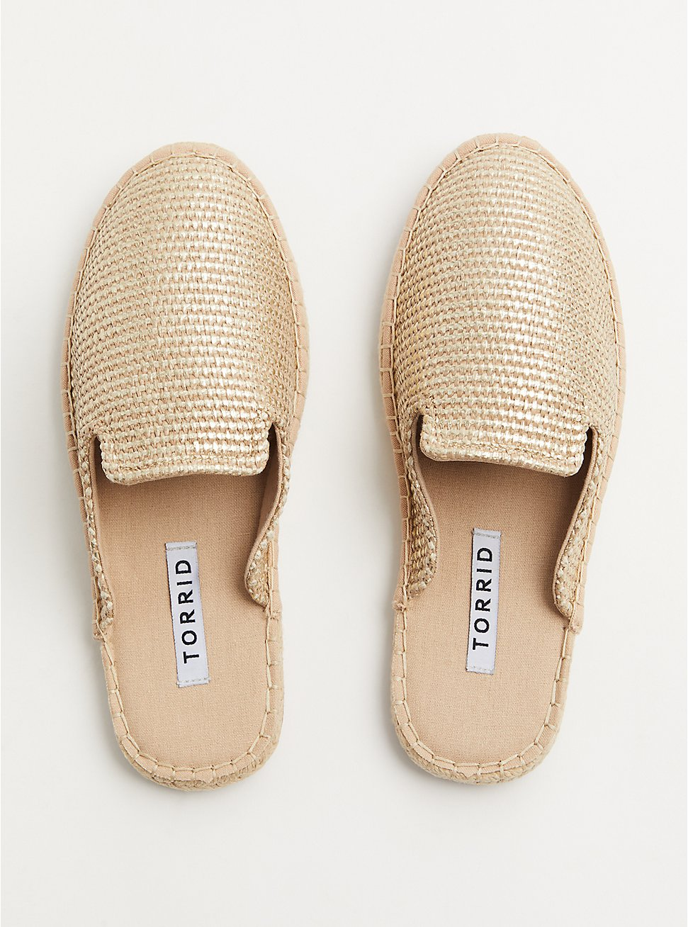 Gold Woven Espadrille Mule (WW), GOLD, hi-res