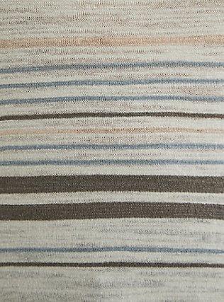 White Multi Stripe Slub Dolman Top, STRIPE - MULTI, alternate