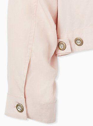 Light Pink Trucker Jacket, PEACH BLUSH, alternate