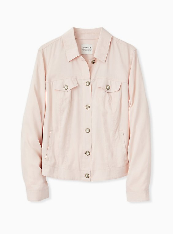 Light Pink Trucker Jacket, , hi-res