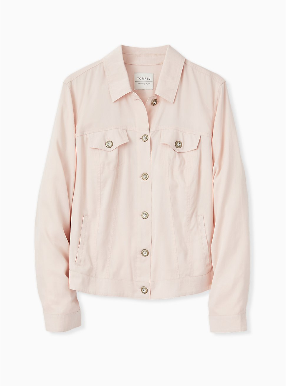 Light Pink Trucker Jacket, PEACH BLUSH, hi-res