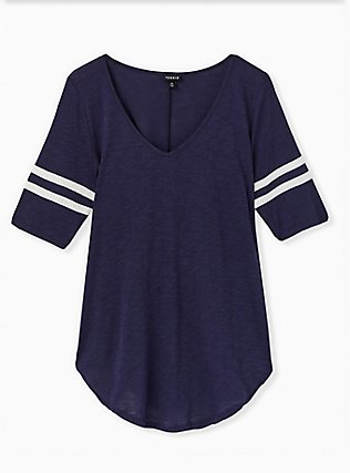 Football Favorite Tunic Tee - Heritage Slub Navy, PEACOAT, hi-res
