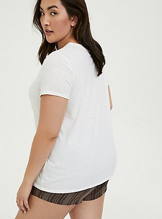 Plus Size Classic Fit Crew Tee - Vintage Burnout White, BRIGHT WHITE, alternate