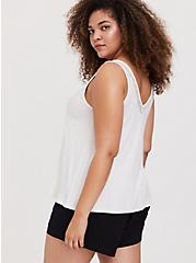 Super Soft Ivory Lace Inset Tank, CLOUD DANCER, alternate