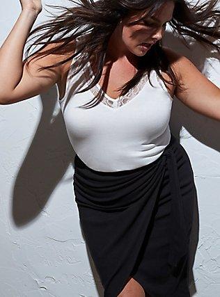 Super Soft Ivory Lace Inset Tank, CLOUD DANCER, pdped